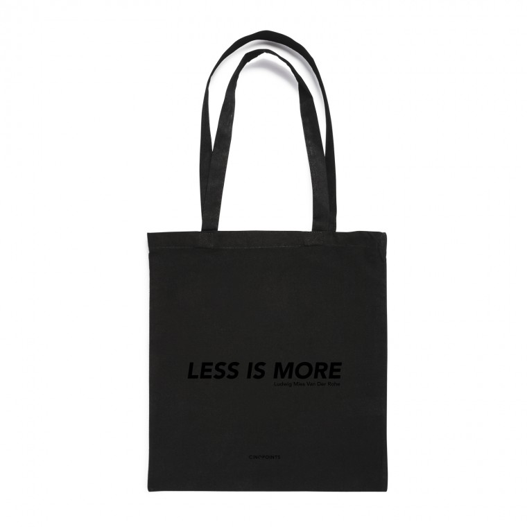 LESS IS MORE TOTEBAG