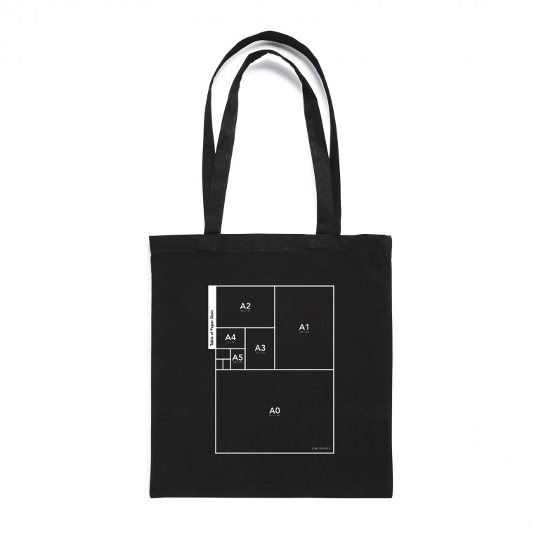 table of paper sizes tote bag cinqpoints. Black Bedroom Furniture Sets. Home Design Ideas