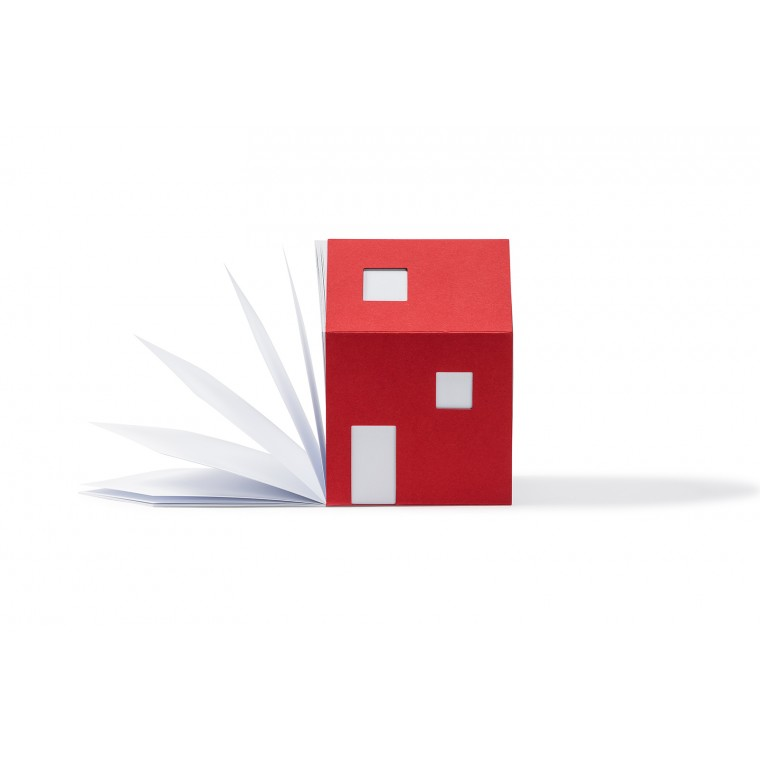 NOTE PAD - HOUSE OF NOTES BAUHAUS RED