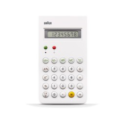 CALCULATRICE BRAUN BLANC