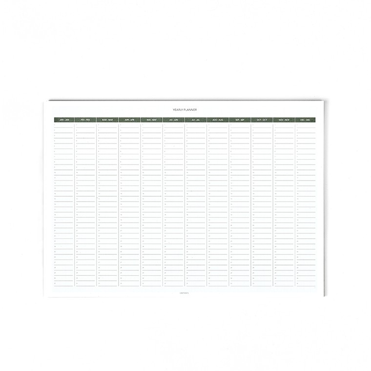 A3 MILLIMETER YEARLY PLANNER