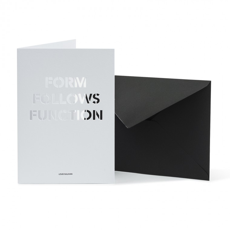 FORM FOLLOWS FUNCTION CARTE