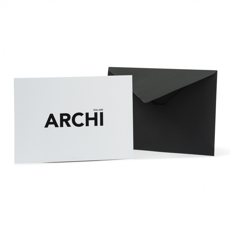 YOU ARE ARCHI CARTE