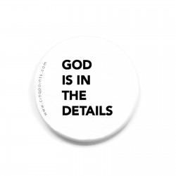 GOD IS IN THE DETAILS BADGE