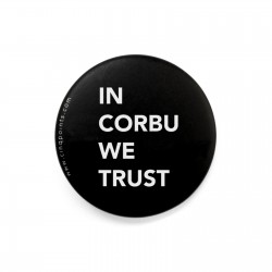 IN CORBU WE TRUST BADGE