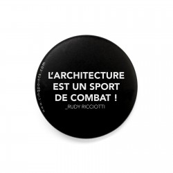 L'ARCHITECTURE EST UN SPORT... BADGE