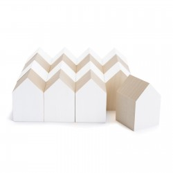 CONSTRUCTION GAME IN WOOD - ARCHIBLOCKS HOUSE WHITE