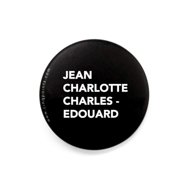 JEAN, CHARLOTTE, CHARLES-ÉDOUARD BADGE