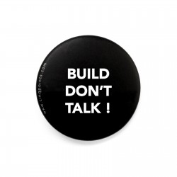 BUILD DON'T TALK BLACK BADGE