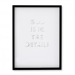 GOD IS IN THE DETAILS WHITE POSTER (FRAMED)