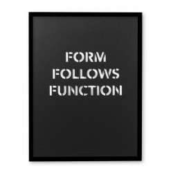 FORM FOLLOWS FUNCTION BLACK POSTER (FRAMED)