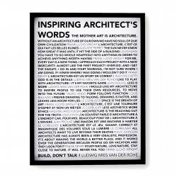 INSPIRING WORDS POSTER (FRAMED)